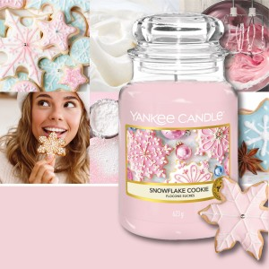 Candles Snowflake Cookie