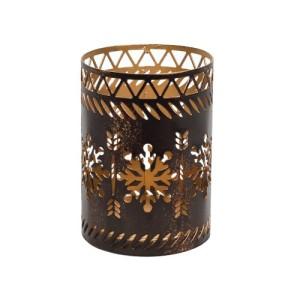 Accessoires Petite Candle Holder Bronze Snowflake