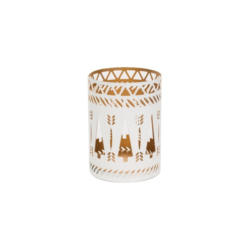 WoodWick Accessoires Petite Candle Holder White Trees