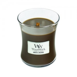 Kaarsen WoodWick Amber & Incense