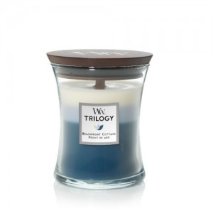WoodWick Trilogy Candles Beachfront Cottage
