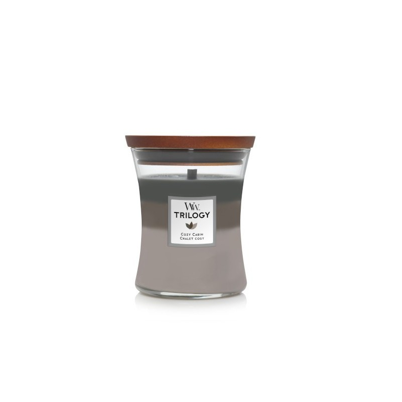WoodWick Trilogy Candles Cozy Cabin