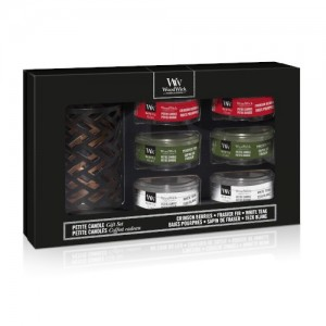 WoodWick Giftsets Deluxe Gift Set Six Petite Candle & holder Autumn/Winter