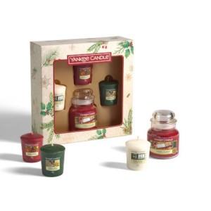 Yankee Candle Giftsets Magical Christmas Morning 1 Small Jar & 3 Votives