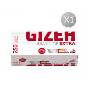 Cigarette filter tubes Gizeh Silver Tip Extra 250 Tubes