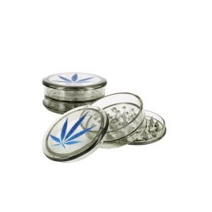 Grinder & Balances Ragga Plastic Grinder Blue Leaf