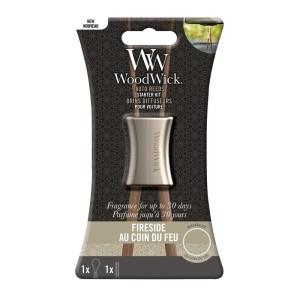 WoodWick Parfum Voiture Kit Démarrage Au Coin Du Feu