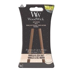WoodWick Autoparfum Navulling Vanilla & Sea Salt