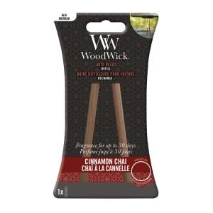 WoodWick Parfum Voiture Auto Reed Refill Chai à la cannelle