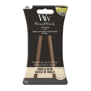 WoodWick Car Fragrance Auto Reed Refill Vanilla Bean
