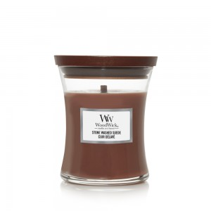 WoodWick Candles Stone Washed Suede