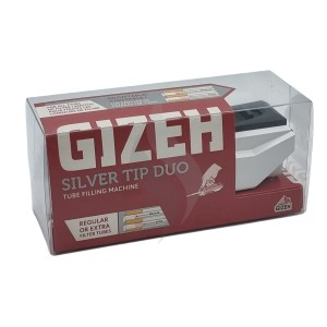 Manual Cigarette Injector Gizeh Silver Tip Duo