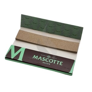 Papier à rouler King Size +Tips Mascotte Brown Slim Size Combi Pack