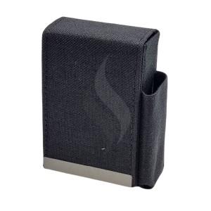 Sigarettendoosjes Angelo Box Design Tissu Black With Lighter
