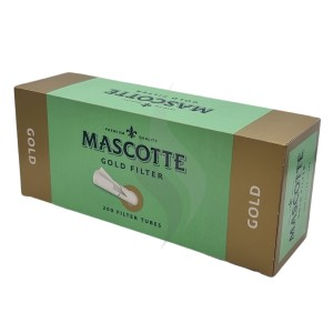 Cigarette filter tubes Mascotte Gold 200 Tubes