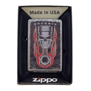Briquet & Cendrier Zippo Piston Skull Flame Design