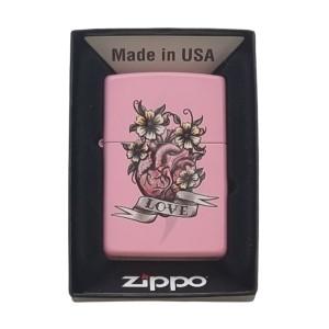 Briquet & Cendrier Zippo Heart Flowers Love Design