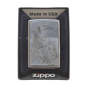 Lighter & Ashtray Zippo Snowboard Fire