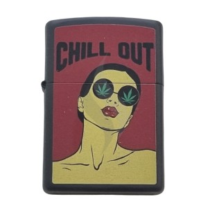 Lighter & Ashtray Zippo Chill Out Leaf design