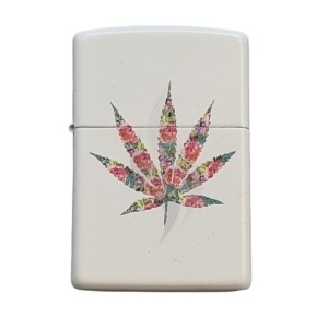 Lighter & Ashtray Zippo Floral Weed Design