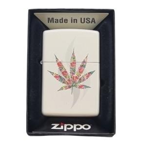 Briquet & Cendrier Zippo Floral Weed Design