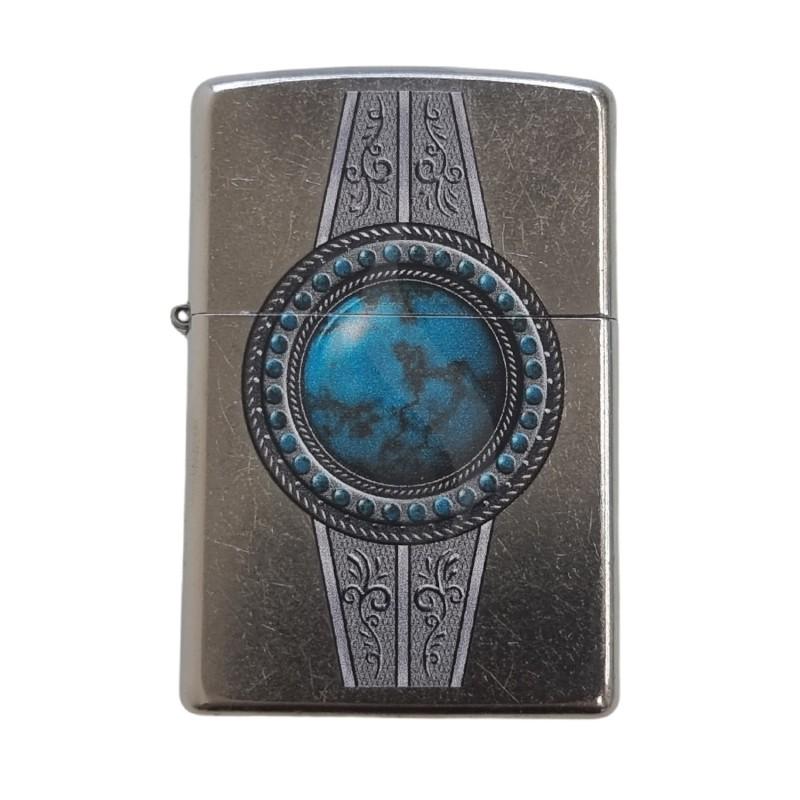 Briquet & Cendrier Zippo Turquoise Belt