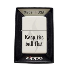 Aanstekers Zippo Flat Keep The Ball Flat
