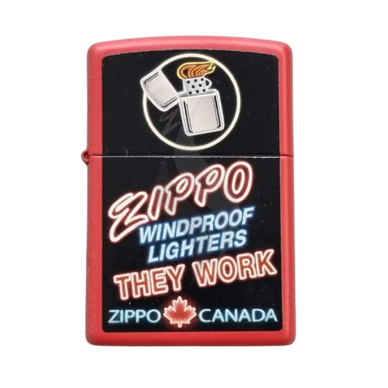 Lighter & Ashtray Zippo Planeta Canada Plant